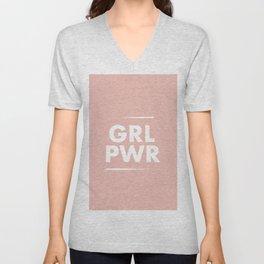 Girl Power / Pink Unisex V-Neck
