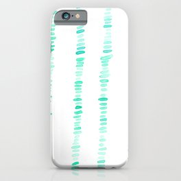Watercolor Stripes on Stripes iPhone Case