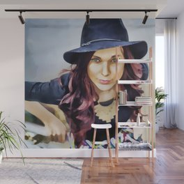 Her own fashion show Wall Mural