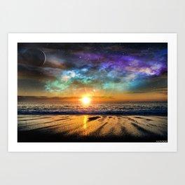 Beach and beyond. Art Print
