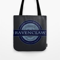ravenclaw Tote Bags featuring Ravenclaw by justgeorgia