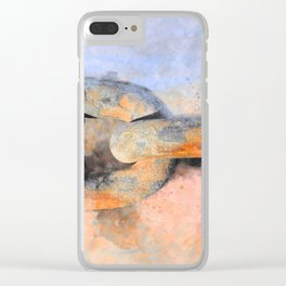 THE SHIP CHAIN Clear iPhone Case
