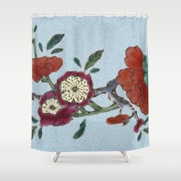 Flowering tree branch Shower Curtain
