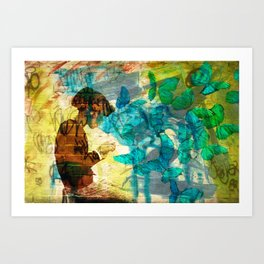 Flying Thoughts Art Print