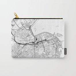 Rio De Janeiro White Map Carry-All Pouch
