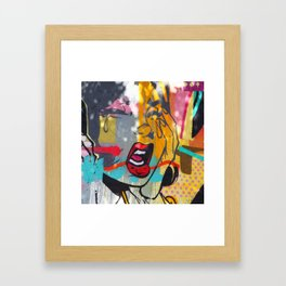 pop art comic graffiti miami beach street art Framed Art Print