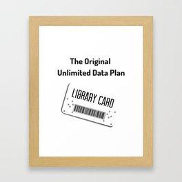 Original Data Plan Framed Art Print