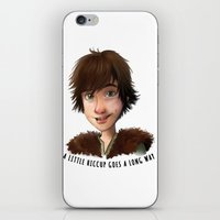 hiccup iPhone & iPod Skins featuring A little Hiccup goes a long way by Fla'Fla'