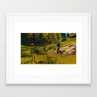 skyrim Framed Art Prints featuring Skyrim Mage and Skeleton by John EEFRD