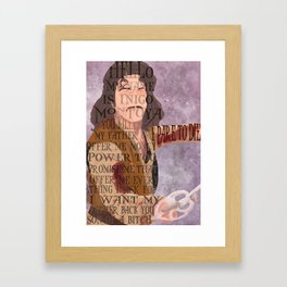 His name is Inigo Montoya Framed Art Print