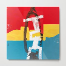 Red, yellow and blue abstract painting Metal Print