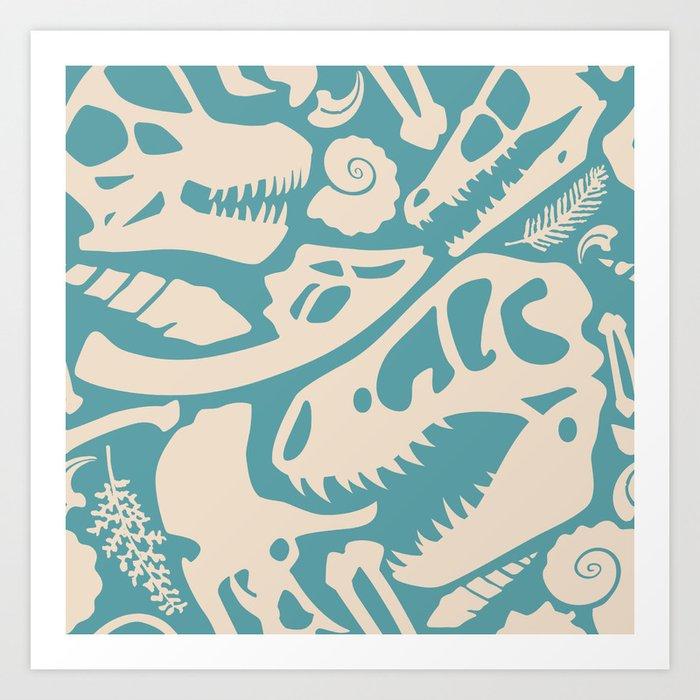 Fossil Pattern Kunstdrucke