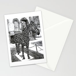 """""""Saratoga  Paint"""" Saratoga Springs Horse Racetrack, EQUESTRIAN, thoroughbred horses Stationery Cards"""
