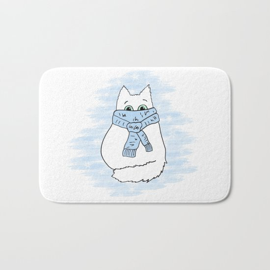 Cartoon cat. Bath Mat