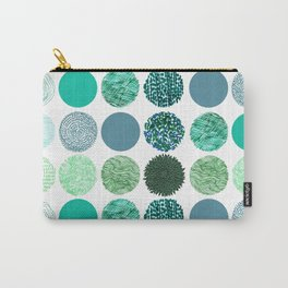 verdant dots. Carry-All Pouch