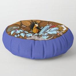 Autumn Mandala Floor Pillow