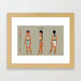 K'abel concept Framed Art Print