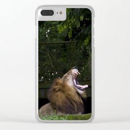 Lion Yawning Clear iPhone Case
