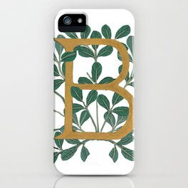 Letter B Forest Lite 2020 iPhone Case