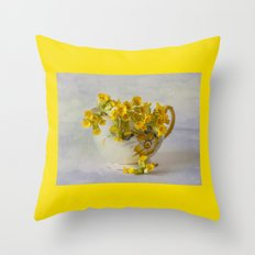 Cowslips Throw Pillow