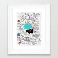 fault Framed Art Prints featuring The Fault in Our Stars- John Green by Natasha Ramon