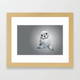 Harbor Seal Pillow Framed Art Print