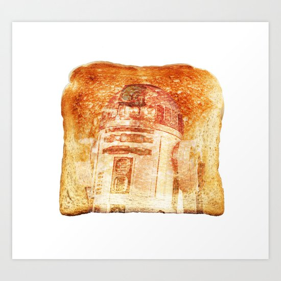 R2D2 toast Art Print