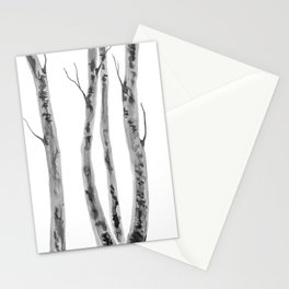 Birch Trees | Indian Ink Illustration | Canadian Art Stationery Cards