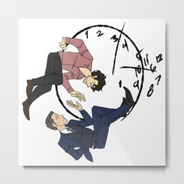 Hannibal & Will - Clock Metal Print