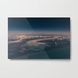 Aerial Glacier Three - Alaska Metal Print