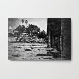 Bridge over the beach with texture Metal Print