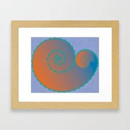Koral Koru Framed Art Print