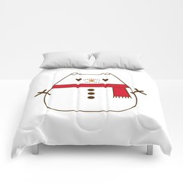 Cute Christmas Snowman Pupsheen Comforters