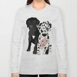 Great Dane Puppy Dogs: Olive & Oden Long Sleeve T-shirt