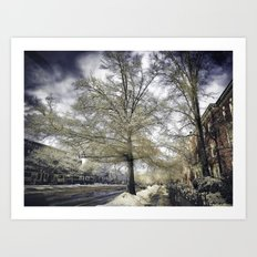Brookline, MA. Just another winter day. Art Print