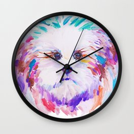Sweet little princess lapdog Wall Clock