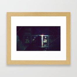 Jay-Z Periodic Table Framed Art Print