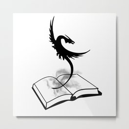 Book Dragon Metal Print