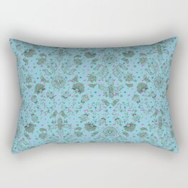 Diatom and Henna Tats Rectangular Pillow