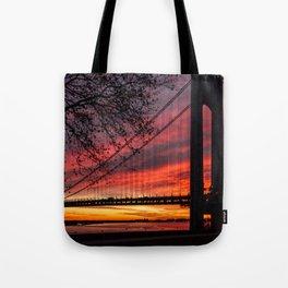 Sunrise at the Bridge Tote Bag