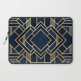 Art Deco Fancy Blue Laptop Sleeve