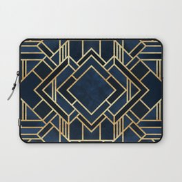 Art Deco Fancy Blue Laptop Sleeve