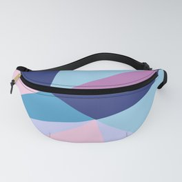 Geometrical pink teal lilac modern colorblock Fanny Pack