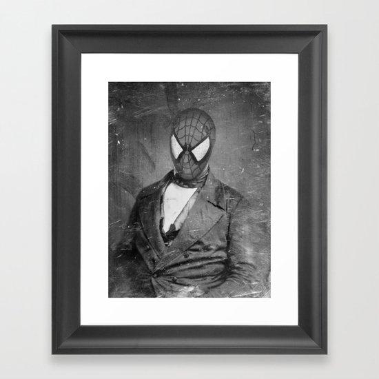 Spidey Senior Framed Art Print