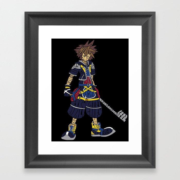 Kingdom Hearts: Sora Framed Art Print