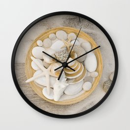 Sea Shell Collection Beach Summer Still Life Wall Clock