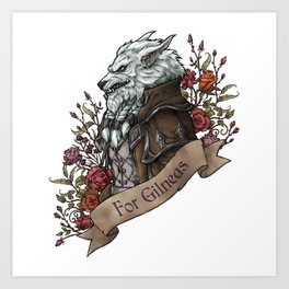 Old Wolf Art Print