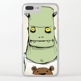Monster & Teddy Clear iPhone Case