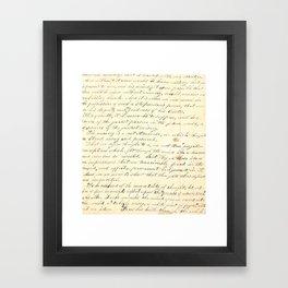 Vintage Writing Framed Art Print