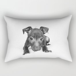 little dog Rectangular Pillow